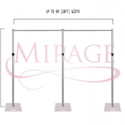 6M BACKDROP STAND SET