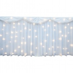 Starlight Wedding Backdrop White LED