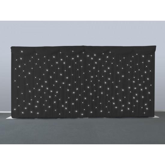 Black Starcloth Backdrop